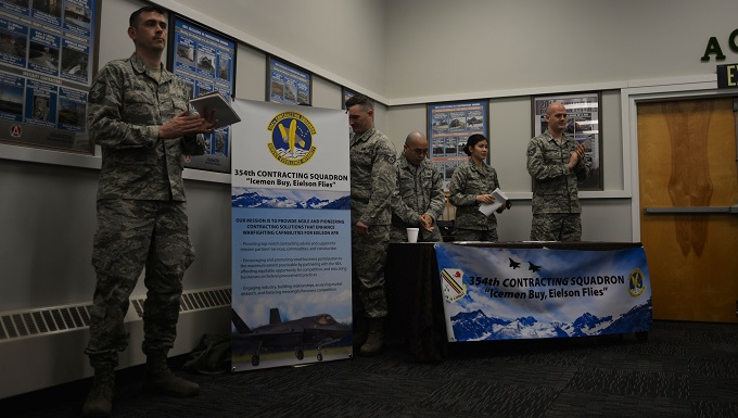 Eielson Airmen reach out to Alaskan businesses