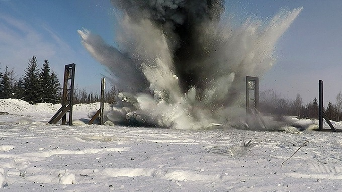Eielson assists Air Force Research Lab in development of innovative way to mitigate explosions using snow